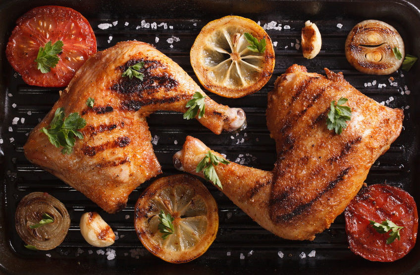 Grilling chicken from breast fillet to chicken thighs